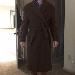 Thick wool overcoat